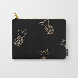 Seamless golden pineapple pattern  Carry-All Pouch