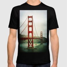 Golden Gate MEDIUM Black Mens Fitted Tee