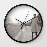 nashville Wall Clocks featuring Anya (Nashville) by Michael Jon Watt