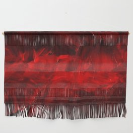 Red And Black Luxury Abstract Gothic Glam Chic by Corbin Henry Wall Hanging