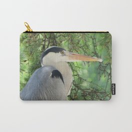 Grey heron (Ardea Cinerea) amongst trees Carry-All Pouch