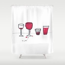 My glass Shower Curtain