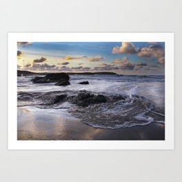 Trevone Bay, Cornwall, England, United Kingdom Art Print