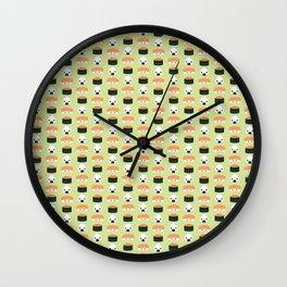 Salmon Dreams in wasabi, small Wall Clock