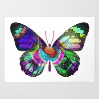 LSD butterfly Art Print