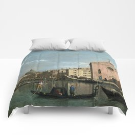 Venice, The Grand Canal facing Santa Croce by Follower of Canaletto Comforters