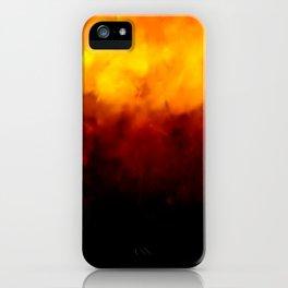 Burnt texture iPhone Case