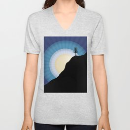 Basket On A Mountain Unisex V-Neck