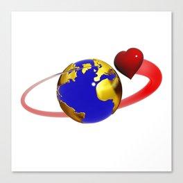 love is all around, #hatetolove Canvas Print