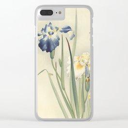 Ohara Koson, Iris Woodblock Print Clear iPhone Case