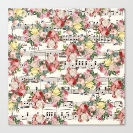 Floral Music Canvas Print