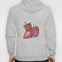 Watercolour Strawberries Hoody