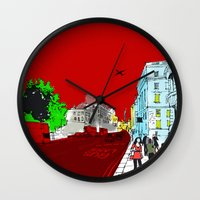 general Wall Clocks featuring General Public by bivisual