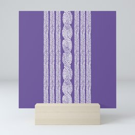 Cable Stripe Violet Mini Art Print