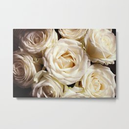 Rose print Boho photography Flower bedroom decor botanical Flowers gift for sister Metal Print