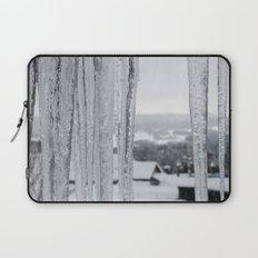 Snow Landscape Through Ice Laptop Sleeve