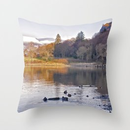 By the Lakeside - Derwent Water Throw Pillow