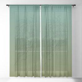 Japanese Oni Head Sheer Curtain