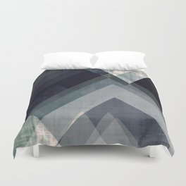 mountain art, geometric art, contemporary art print, modern art print, colorful wall art, midcentury Duvet Cover