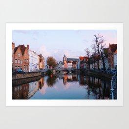 Bruges at Golden Hour Art Print