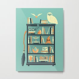 Potter Shelf | Rowling Metal Print