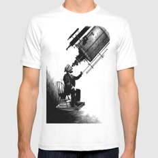 Who's Looking at Who? MEDIUM White Mens Fitted Tee