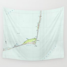 Cape Hatteras National Seashore Map (1985) Wall Tapestry