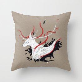 DEER II RIBBONS Throw Pillow