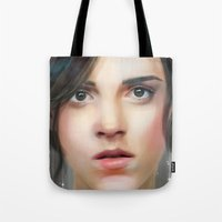 emma watson Tote Bags featuring Emma Watson by taryndraws2