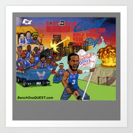 Don't Be A Menace To CLIPSET Nation Art Print