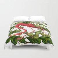 flamingo Duvet Covers featuring Flamingo by Fifikoussout