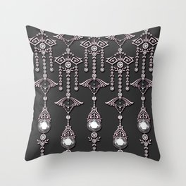 CASTELLINA JEWELS: ROMANTIC FADED PINK Throw Pillow