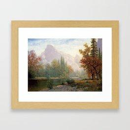ALBERT BIERSTADT, HALF DOME, YOSEMITE Framed Art Print