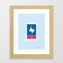 Texas Baseball Ticket (10 of 30) Framed Art Print