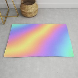 Colorful Gradient Abstract Rainbow Pattern Holographic Foil Rug