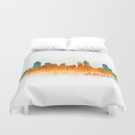 Atlanta City Skyline Hq v3 Duvet Cover