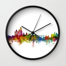 Amsterdam The Netherlands Skyline Wall Clock