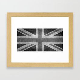 British Union Jack flag 1:2 scale retro grunge Framed Art Print