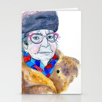 soviet Stationery Cards featuring Soviet babushka by Miurita