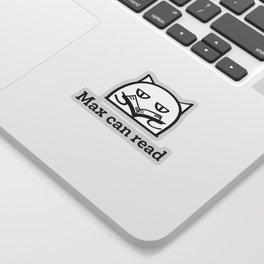 Max can read Sticker