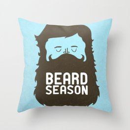Beard Season Throw Pillow
