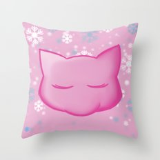 Silent Night: Mew Throw Pillow