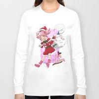 madoka magica Long Sleeve T-shirts featuring Merry Christmas Madoka Kaname by Neo Crystal Tokyo
