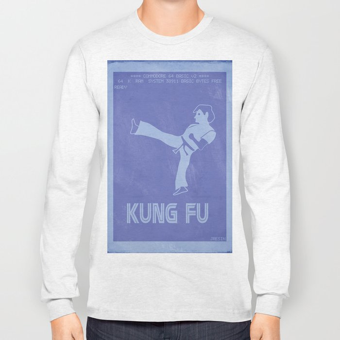 Retrogaming - Kung fu Long Sleeve T-shirt