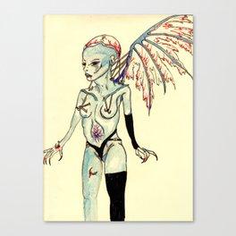 tortured angel Canvas Print