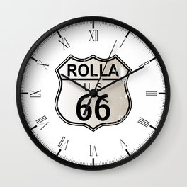 Rolla Route 66 Wall Clock