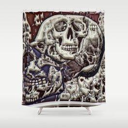 Skulls a plenty Shower Curtain