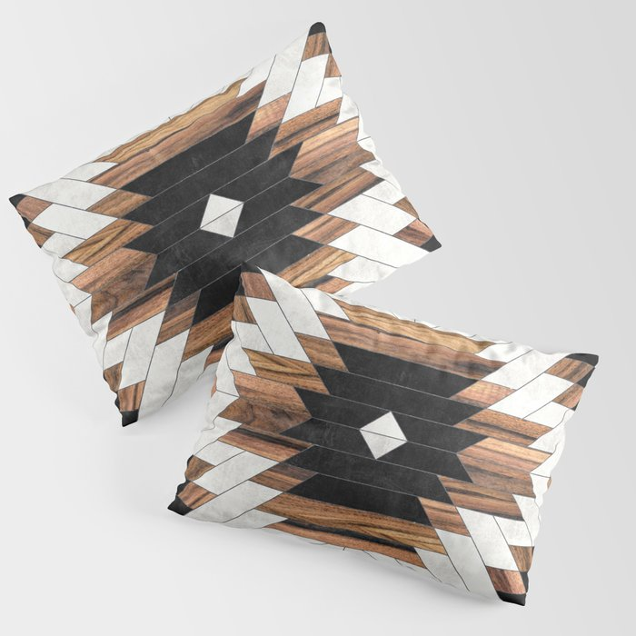 Urban Tribal Pattern No.5 - Aztec - Concrete and Wood Kissenbezug