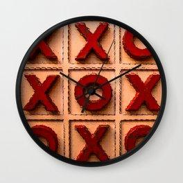 Noughts & Crosses 2 Wall Clock