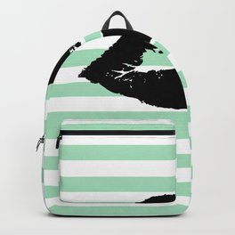 Pastel Goth - Mint Stripes and Lips 1 Backpack